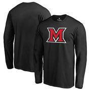 Miami University RedHawks Fanatics Branded Primary Logo Long Sleeve T-Shirt - Black