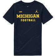 Michigan Wolverines Jordan Brand Youth Core Facility T-Shirt - Navy