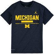 Michigan Wolverines Jordan Brand Youth Legend Staff Performance T-Shirt - Navy