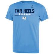 North Carolina Tar Heels Jordan Brand Youth Legend Staff Performance T-Shirt - Light Blue