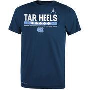 North Carolina Tar Heels Jordan Brand Youth Legend Staff Performance T-Shirt - Navy