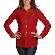 Atlanta Falcons Antigua Women's Dynasty Woven Button Up Long Sleeve Shirt - Red