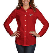 Kansas City Chiefs Antigua Women's Dynasty Woven Button Up Long Sleeve Shirt - Red