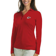 Kansas City Chiefs Antigua Women's Exceed Long Sleeve Polo - Red