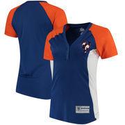 New York Mets Majestic Women's League Diva Snap Placket T-Shirt - Royal