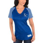 Kansas City Royals Majestic Women's League Diva Snap Placket T-Shirt - Royal