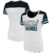 Seattle Mariners Majestic Women's Overwhelming Victory T-Shirt - White/Navy
