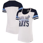 Tampa Bay Rays Majestic Women's Overwhelming Victory T-Shirt - White/Navy