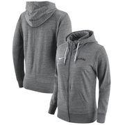 Wyoming Cowboys Nike Women's Gym Vintage Full-Zip Hoodie - Heathered Gray