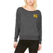 Michigan Wolverines Let Loose by RNL Women's Winning Long Sleeve T-Shirt - Dark Gray Heather