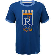 Kansas City Royals Majestic Youth Baseball Stripes Cooperstown Collection Ringer T-Shirt - Royal