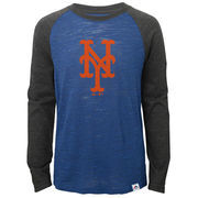 New York Mets Majestic Youth Grueling Ordeal Long Sleeve Raglan T-Shirt - Royal