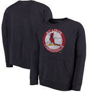 St. Louis Cardinals Majestic Threads Cooperstown Collection Tri-Blend Pocket Fleece Sweatshirt - Navy