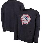 New York Yankees Majestic Threads Cooperstown Collection Tri-Blend Pocket Fleece Sweatshirt - Navy