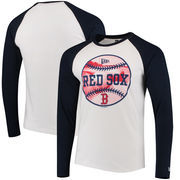 Boston Red Sox New Era Raglan Long Sleeve T-Shirt - White/Navy