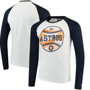 Houston Astros New Era Raglan Long Sleeve T-Shirt - White/Navy
