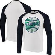 Seattle Mariners New Era Raglan Long Sleeve T-Shirt - White/Navy