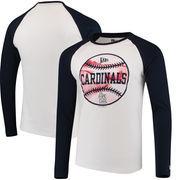 St. Louis Cardinals New Era Raglan Long Sleeve T-Shirt - White/Navy