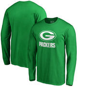 Green Bay Packers NFL Pro Line by Fanatics Branded St. Patrick's Day White Logo Long Sleeve T-Shirt - Kelly Green