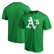 Oakland Athletics Fanatics Branded Big & Tall St. Patrick's Day White Logo T-Shirt - Green