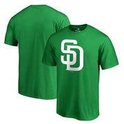San Diego Padres Fanatics Branded Big & Tall St. Patrick's Day White Logo T-Shirt - Green