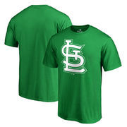 St. Louis Cardinals Fanatics Branded Big & Tall St. Patrick's Day White Logo T-Shirt - Green