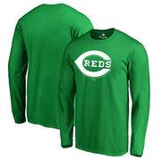 Cincinnati Reds Fanatics Branded St. Patrick's Day White Logo Long Sleeve T-Shirt - Kelly Green