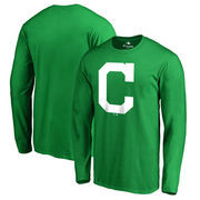 Cleveland Indians Fanatics Branded St. Patrick's Day White Logo Long Sleeve T-Shirt - Kelly Green