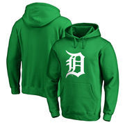 Detroit Tigers Fanatics Branded St. Patrick's Day White Logo Pullover Hoodie - Kelly Green