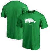 Arkansas Razorbacks Fanatics Branded Big & Tall St. Patrick's Day White Logo T-Shirt - Green