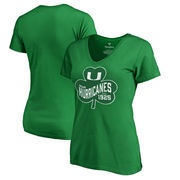 Miami Hurricanes Fanatics Branded Women's Plus Sizes St. Patrick's Day Paddy's Pride T-Shirt - Kelly Green