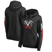 Chicago Blackhawks Fanatics Branded Women's Plus Size Gradient Logo Pullover Hoodie - Black