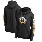 Boston Bruins Fanatics Branded Women's Plus Size Gradient Logo Pullover Hoodie - Black