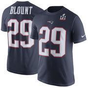 LeGarrette Blount New England Patriots Nike Super Bowl LI Bound Patch Player Pride Name & Number T-Shirt - Navy