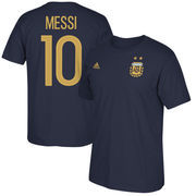 Lionel Messi Argentina National Team adidas Federation Jersey Hook Player Name & Number T-Shirt - Navy