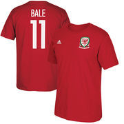 Gareth Bale Wales National Team adidas Federation Jersey Hook Player Name & Number T-Shirt - Red