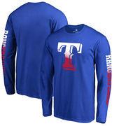 Texas Rangers Fanatics Branded Gradient Logo Long Sleeve T-Shirt - Royal