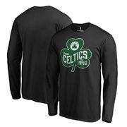 Boston Celtics Fanatics Branded Big & Tall St. Patrick's Day Paddy's Pride Long Sleeve T-Shirt - Black