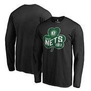 Brooklyn Nets Fanatics Branded Big & Tall St. Patrick's Day Paddy's Pride Long Sleeve T-Shirt - Black
