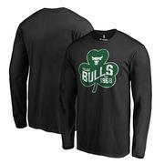 Chicago Bulls Fanatics Branded Big & Tall St. Patrick's Day Paddy's Pride Long Sleeve T-Shirt - Black