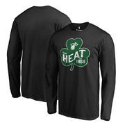 Miami Heat Fanatics Branded Big & Tall St. Patrick's Day Paddy's Pride Long Sleeve T-Shirt - Black