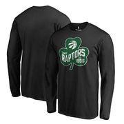 Toronto Raptors Fanatics Branded Big & Tall St. Patrick's Day Paddy's Pride Long Sleeve T-Shirt - Black