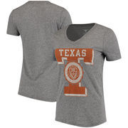 Texas Longhorns Women's Letter Seal Tri-Blend T-Shirt - Heathered Gray