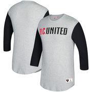 D.C. United Mitchell & Ness Scoring Position 3/4-Sleeve T-Shirt - Heathered Gray