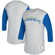 Seattle Sounders FC Mitchell & Ness Scoring Position 3/4-Sleeve T-Shirt - Heathered Gray