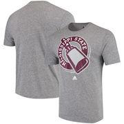 Mississippi State Bulldogs adidas Vintage Alternate Logo Tri-Blend T-Shirt - Charcoal