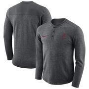 Alabama Crimson Tide Nike Henley Long Sleeve T-Shirt - Heathered Charcoal