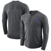 Duke Blue Devils Nike Henley Long Sleeve T-Shirt - Charcoal