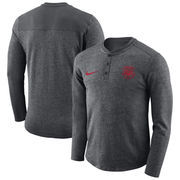 Georgia Bulldogs Nike Henley Long Sleeve T-Shirt - Heathered Charcoal