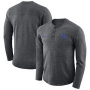 Kentucky Wildcats Nike Henley Long Sleeve T-Shirt - Charcoal